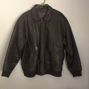 Genuine leather croft and barrow leather jacket